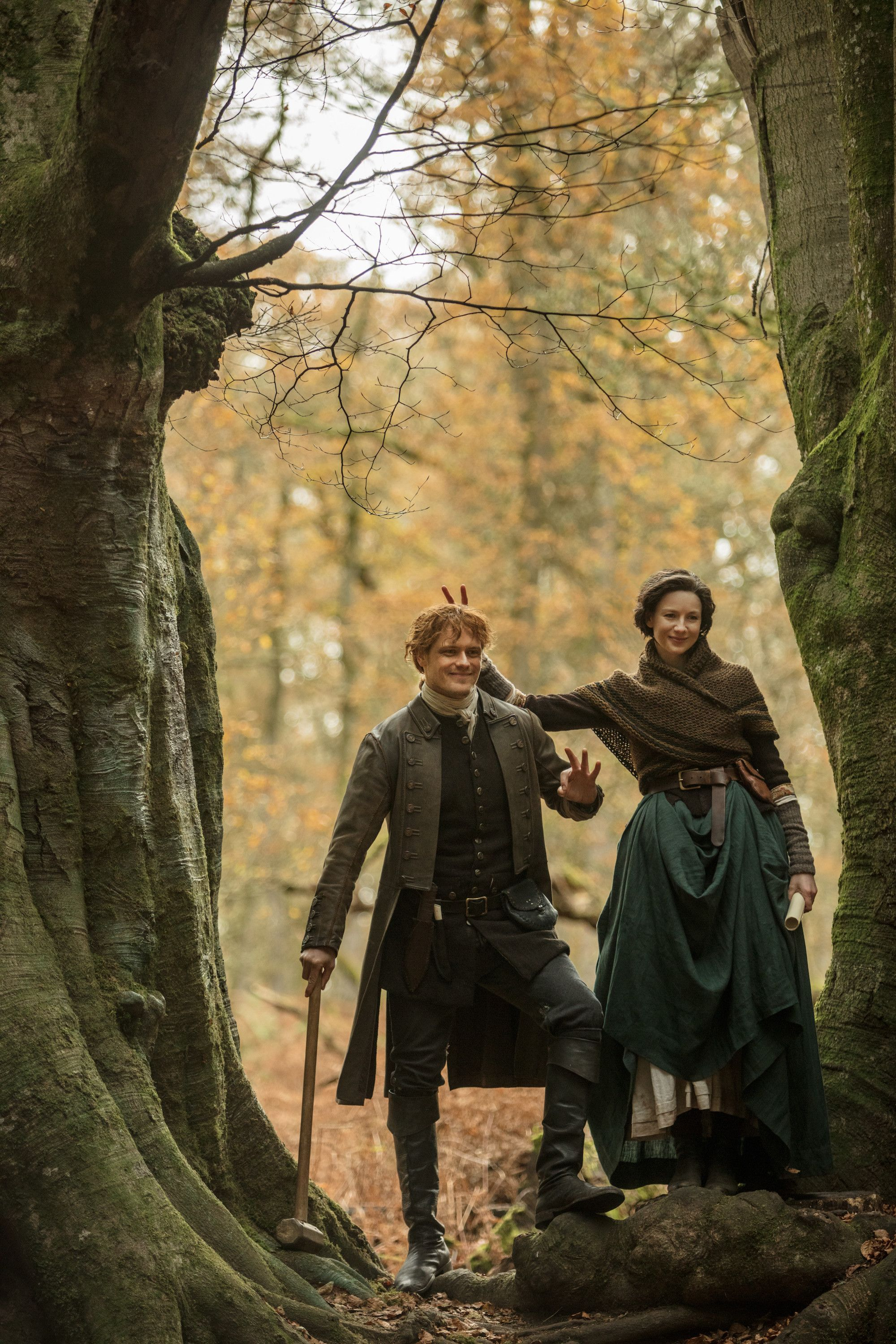 Outlander's Sam Heughan and Caitriona Balfe Interview on