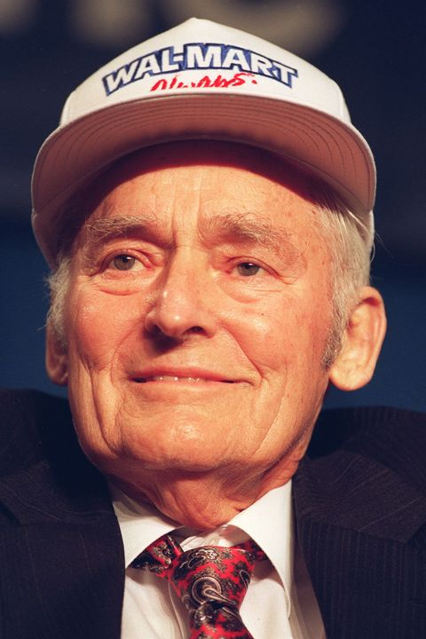 Sam Walton, founder of Wal-Mart, US retail chain,
