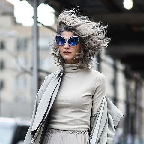 Eyewear, White, Street fashion, Fashion model, Clothing, Sunglasses, Fashion, Shoulder, Beauty, Lip,