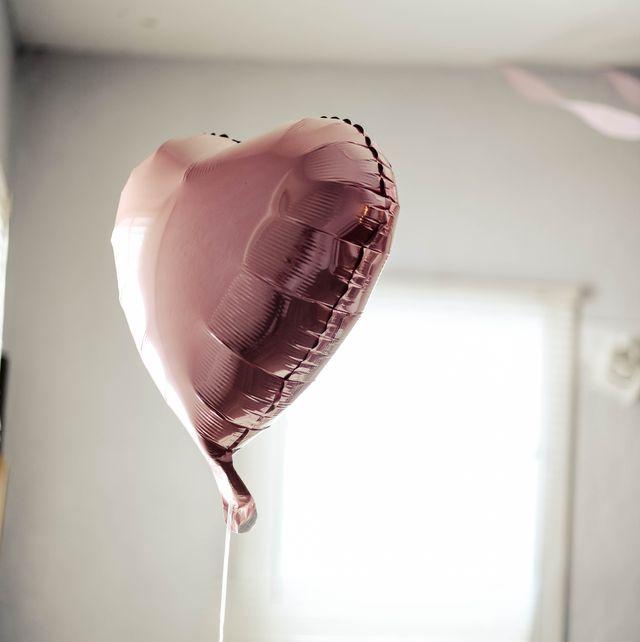 Pink, Room, Heart, Still life photography, Balloon, Interior design, Photography,