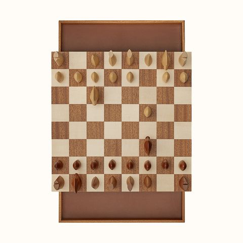 hermés 愛馬仕居家時髦玩具小物 samarcande 木製西洋棋