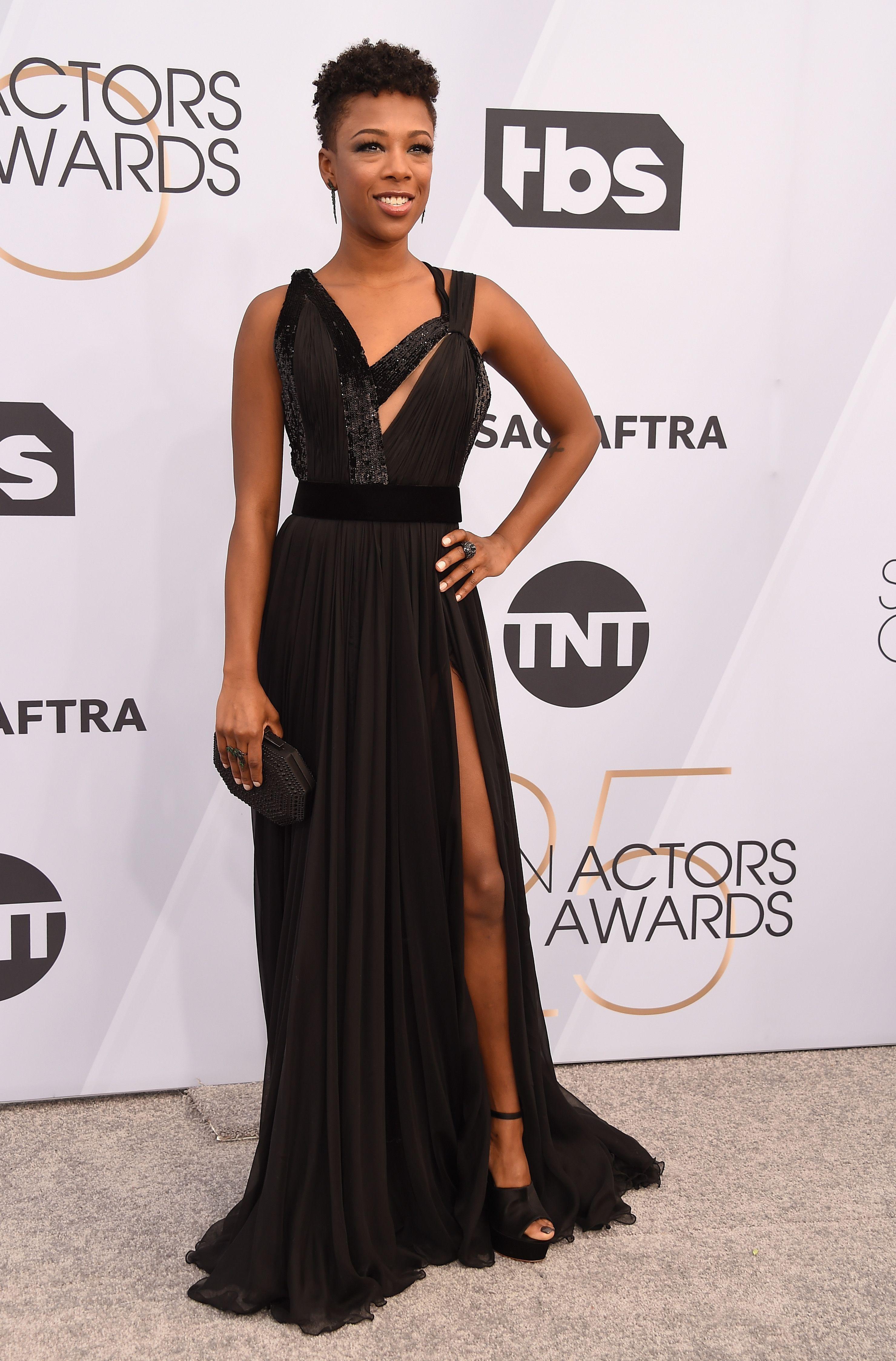 Image result for sag awards 2019 dress Samira Wiley