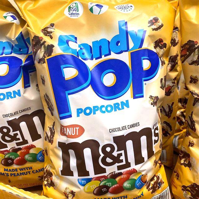 candy pop peanut mm's popcorn