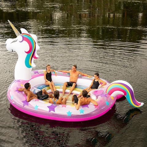 Water transportation, Fun, Pink, Inflatable, Boat, Water, Leisure, Recreation, Vehicle, Tubing,