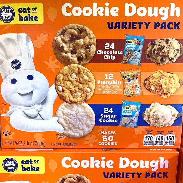 pillsbury fall cookie dough variety pack at sam's club
