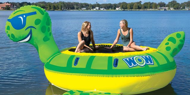 Sam's Club Is Selling WOW Giant Inflatable Turtle and Duck Water Trampoline Bouncers