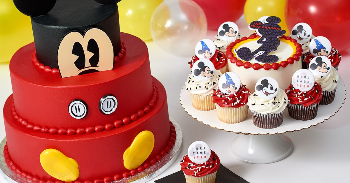 Sams Club Is Selling Several Mickey Mouse Themed Cakes And Cupcakes For Mouses 90th Birthday