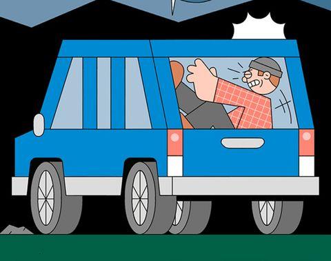 Motor vehicle, Mode of transport, Transport, Cartoon, Vehicle, Car, Illustration, Luxury vehicle, Van, Art,