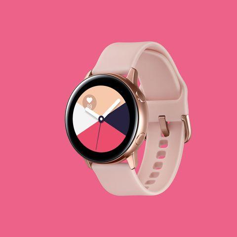 Pink, Watch, Fashion accessory, Strap, Material property, Magenta, Analog watch, Jewellery, Circle,