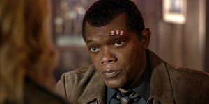 Samuel L. Jackson as Nick Fury, Captain Marvel