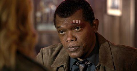 Samuel L. Jackson as Nick Fury, Captain Marvel