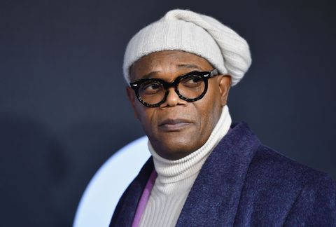 """actor samuel l jackson attends the premiere of universal pictures' """"glass"""" at sva theatre on january 15, 2019 in new york city photo by angela weiss  afp        photo credit should read angela weissafp via getty images"""