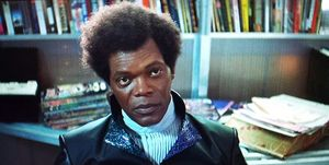 Samuel L Jackson as Mr Glass in Unbreakable