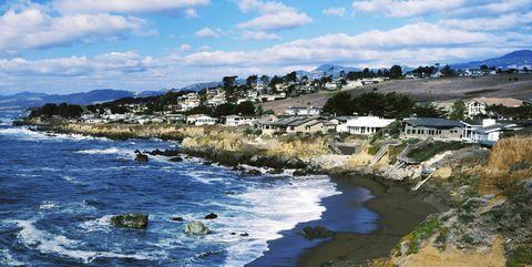 Village at the waterfront, Cambria, San Luis Obispo County, California, USA