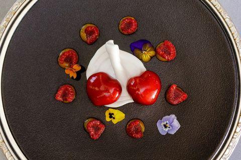 Plato del menú de San Valentín del Hotel InterContinental Madrid