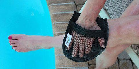 Blue, Green, Footwear, Turquoise, Shoe, Hand, Leg, Ankle, Finger, Pattern,
