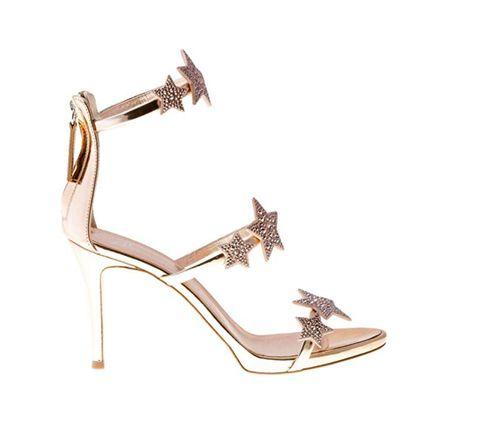 Footwear, High heels, Sandal, Shoe, Mary jane, Leg, Beige, Fashion accessory, Strap, Metal,