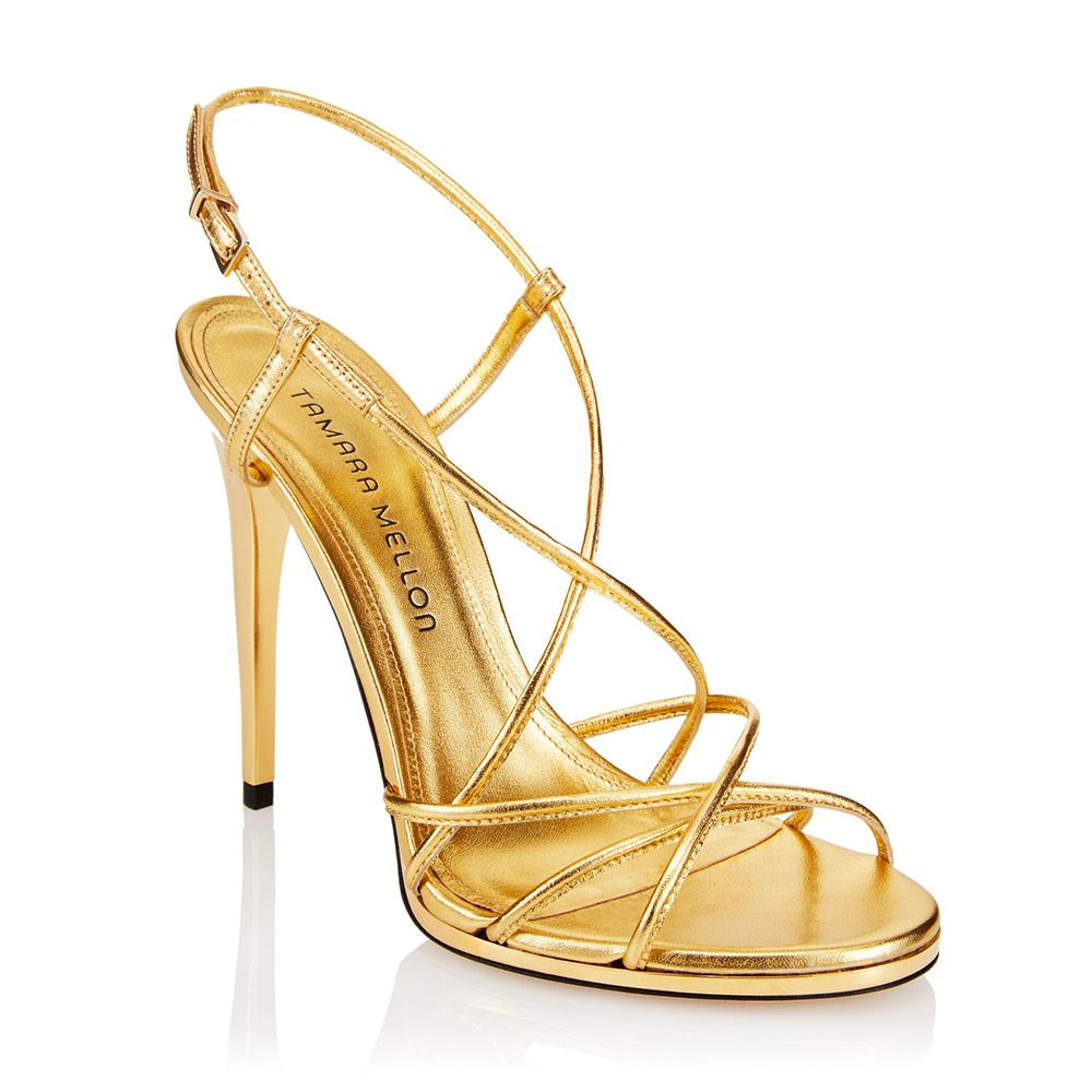 Sandali oro Tamara Mellon, 484 euro circa