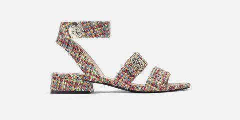 Sandalias planas de colores de Uterque