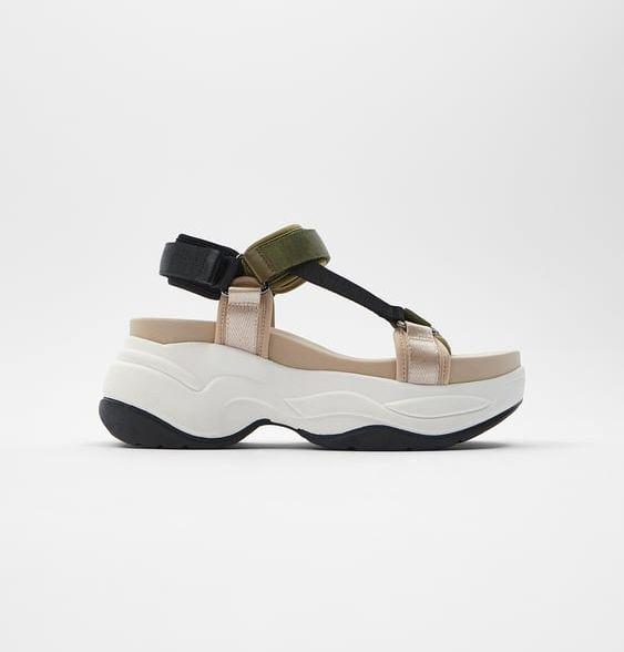 sandalias deportivas de zara