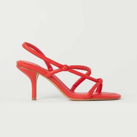 sandalias rojas tiras hym