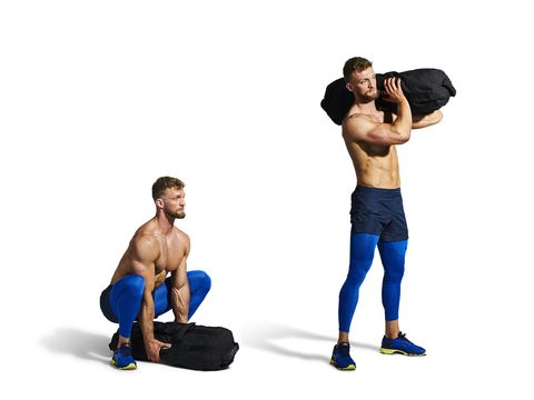 Weights, Shoulder, Exercise equipment, Kettlebell, Arm, Standing, Dumbbell, Muscle, Joint, Physical fitness,