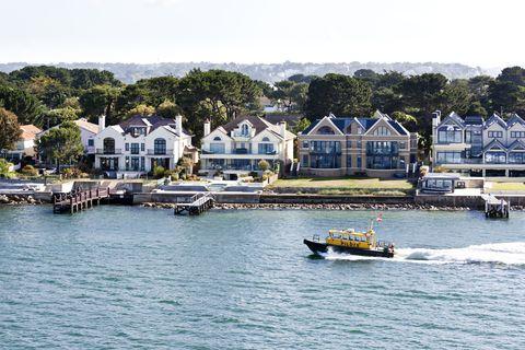Luxury houses, Sandbanks, Poole Harbour