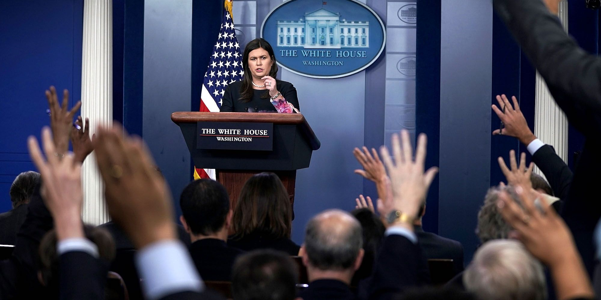 Press Secretary Sarah Sanders Holds Briefing At The White House