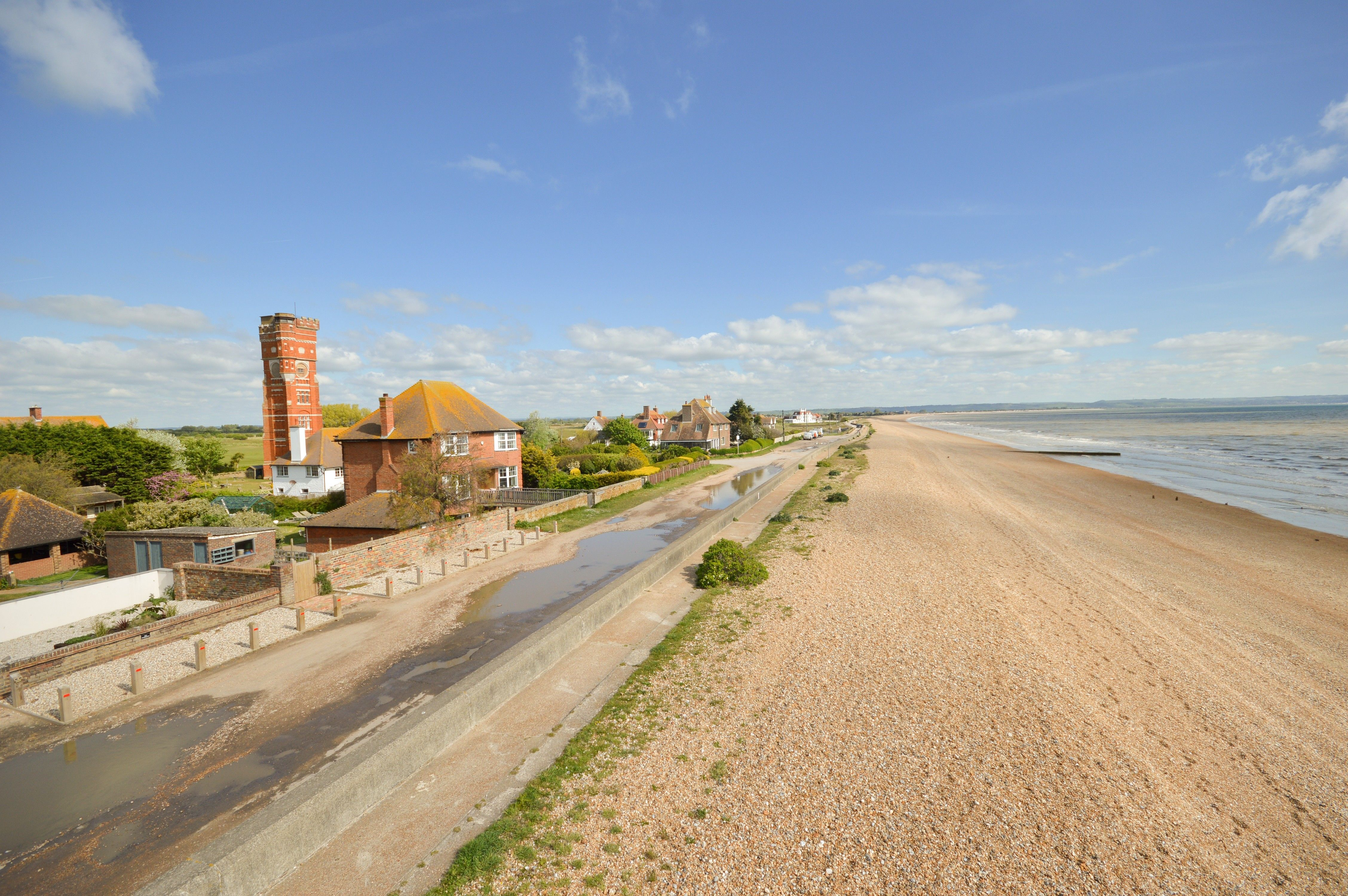 Beachfront coastal home with views over the ocean for sale in Kent