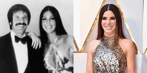 Sandra Bullock and Cher Look Alike