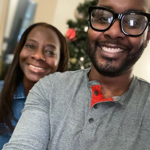 sandra lindsay's son takes a selfie of them smiling close up