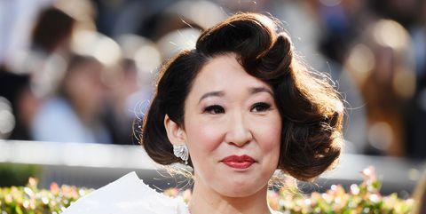 Sandra Oh Golden Globe Awards Arrivals