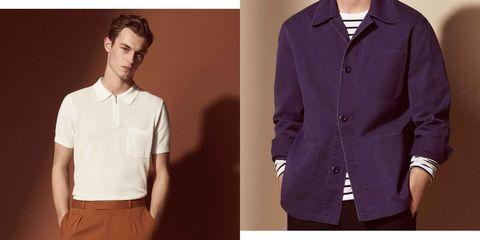 Clothing, Collar, Dress shirt, Sleeve, Shirt, Formal wear, Outerwear, Button, Purple, Fashion,