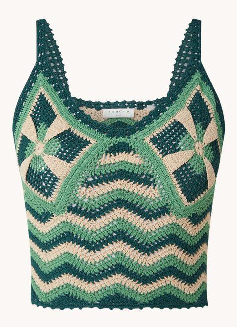 sandro gehaakte crochet top