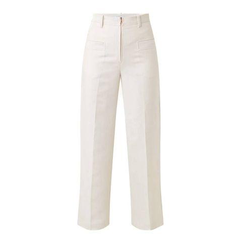 sandro high waist pantalon gebroken wit