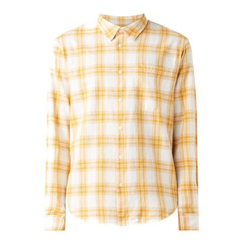 sandro regular fit overhemd met ruitdessin