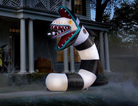 beetlejuice lawn inflatable sandworm