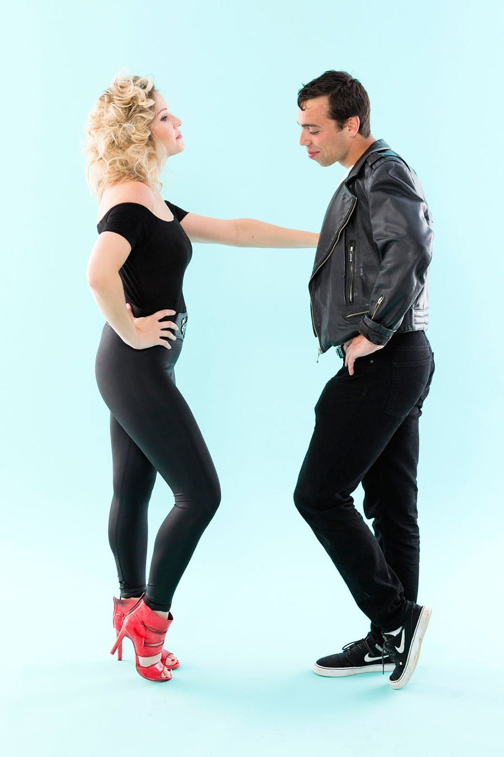 diy grease halloween costumes for groups sandy danny pink ladies and more outfits