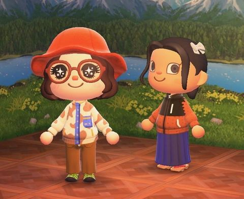 a scene from designer sandy liang's animal crossing pop up sale