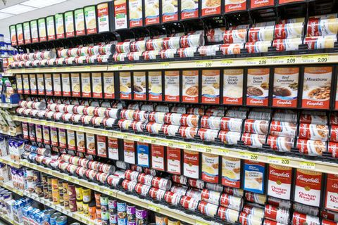 Sanibel Island, Jerrys Foods, grocery store, canned soup aisle
