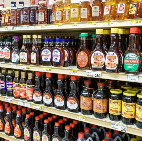 sanibel island, jerrys foods, grocery store, maple syrup aisle