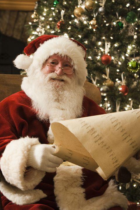 santa claus checking his naughty and nice list