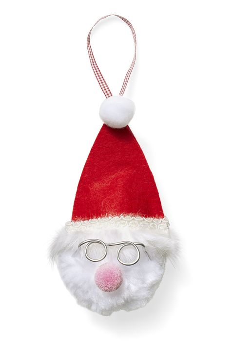DIY Christmas Ornaments Fluffy Santa