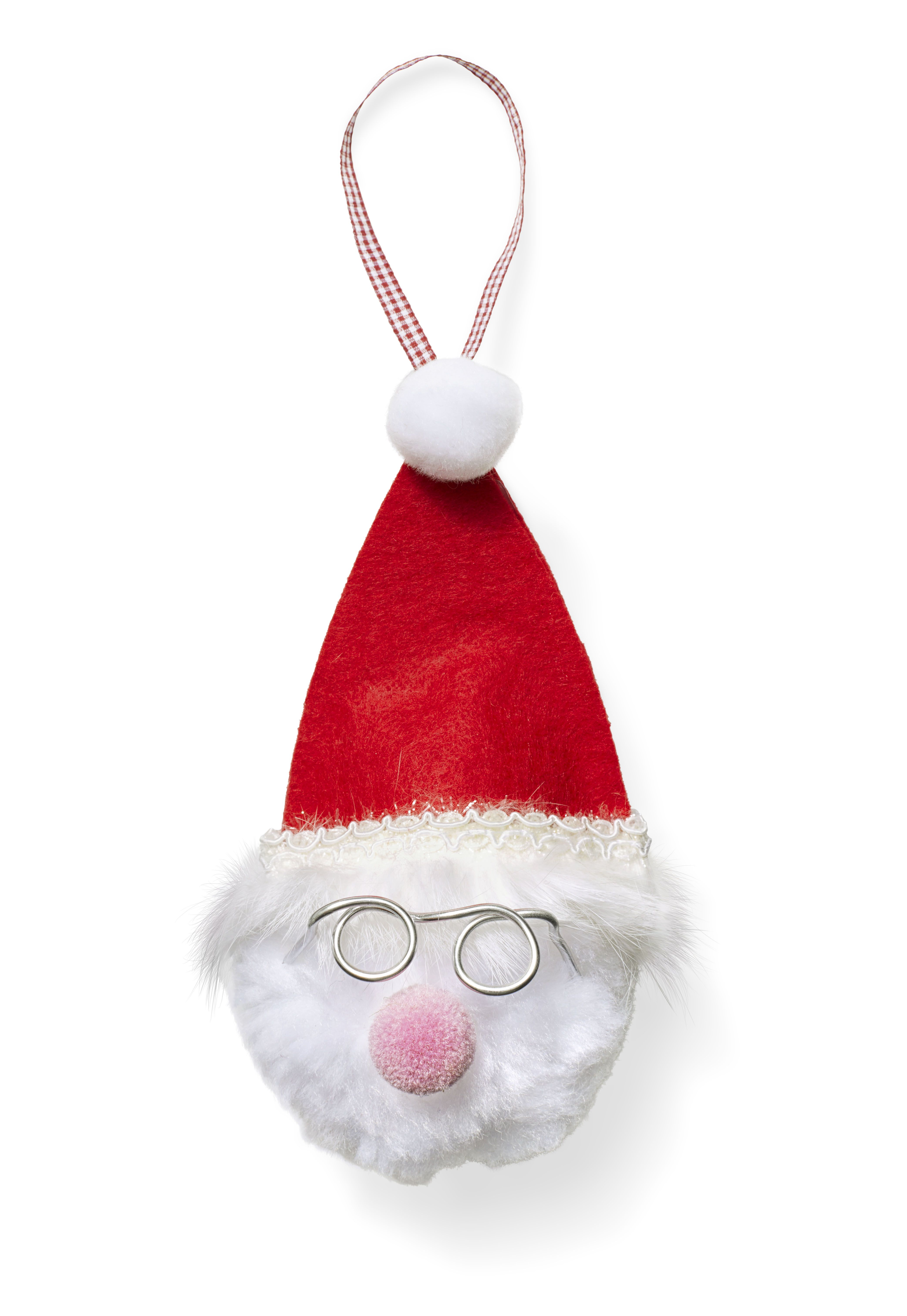 Christmas Crafts Fluffy Santa Ornament