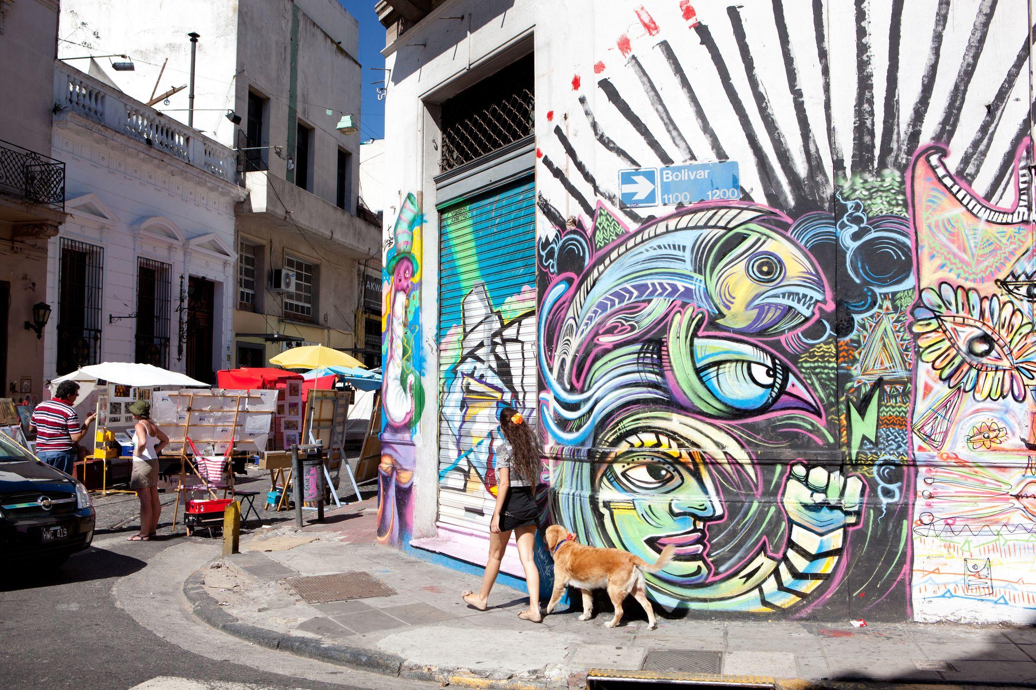 Grafiti en el distrito de San Telmo.
