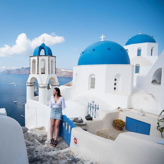 Blue, Sky, Azure, Tourism, Vacation, Dome, Sea, Cloud, Room, Architecture,