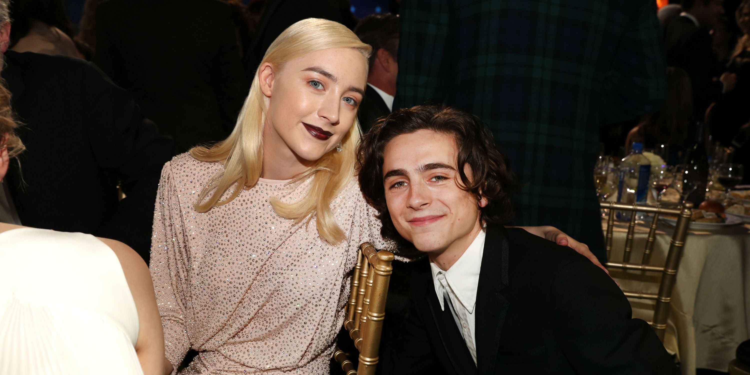 Saoirse Ronan and Timothee Chalamet in January 2018