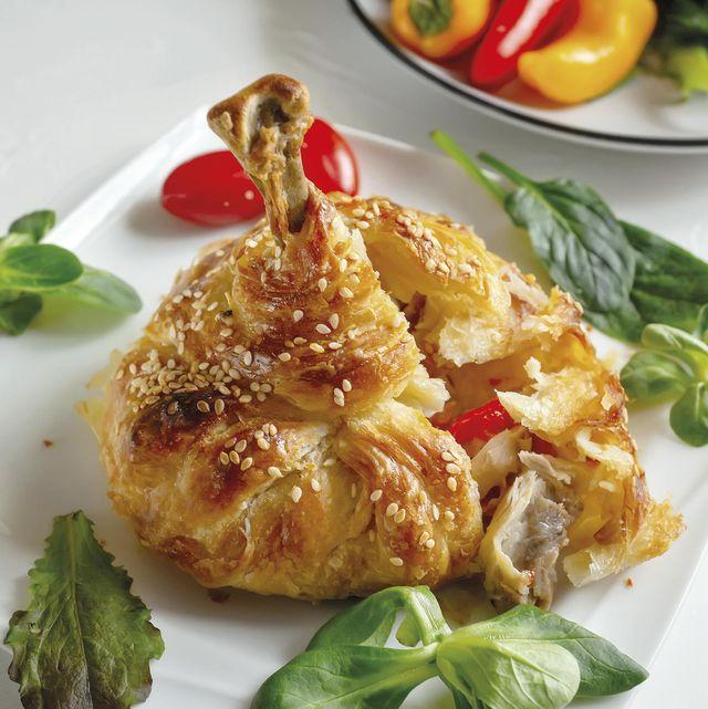 saquitos de hojaldre rellenosde pollo