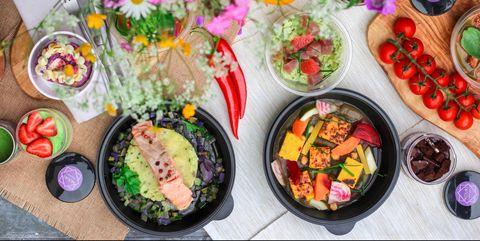 Dish, Food, Meal, Cuisine, Brunch, Vegetarian food, Salad, Garnish, Finger food, Ingredient,