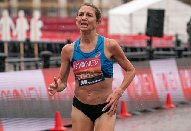 sarah hall corre el maratón de londres